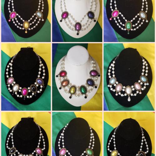 pride rococo pearl necklaces