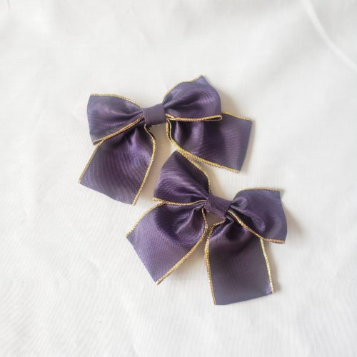 purple bow hair pin