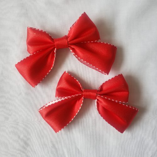 red bow hair pin