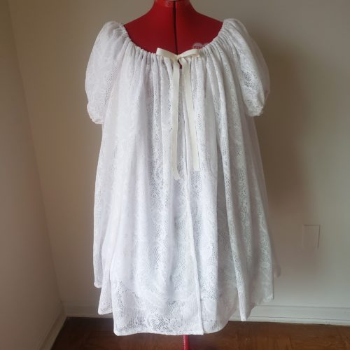 White Dreaming Cotton Chemise and Peignoir